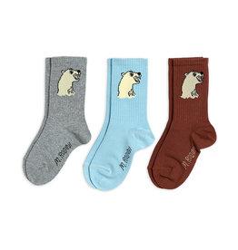 Mini Rodini Paquet de 3 paire de chaussettes Polar Bear