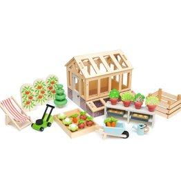 Tender leaf toys Ensemble Serre et accessoires de jardin