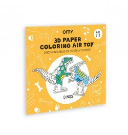 OMY Dinos 3D Paper coloring air toy