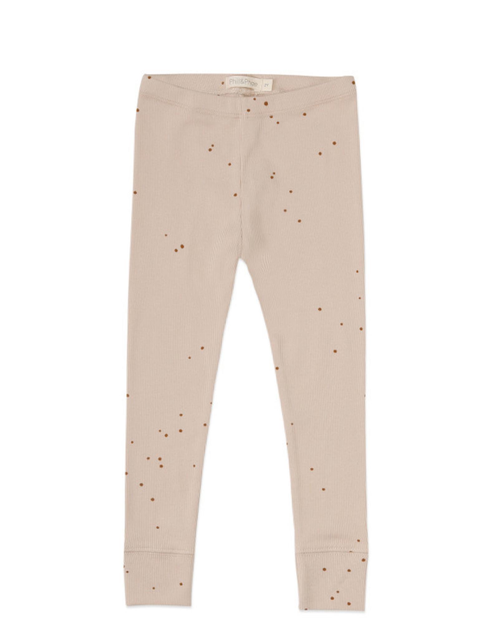 Phil & Phae Rib Leggings Dots