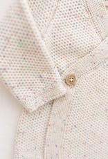 Fin & Vince Waffle Knit Wrap  Confetti Cardigan