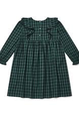 Bonton Daya over-dyed check girl's dress