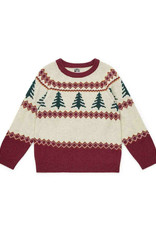 Bonton Pine Trees wool boy's jumper