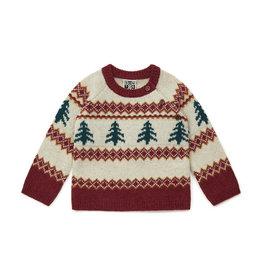 Bonton Pine tree wool jacquard baby jumper