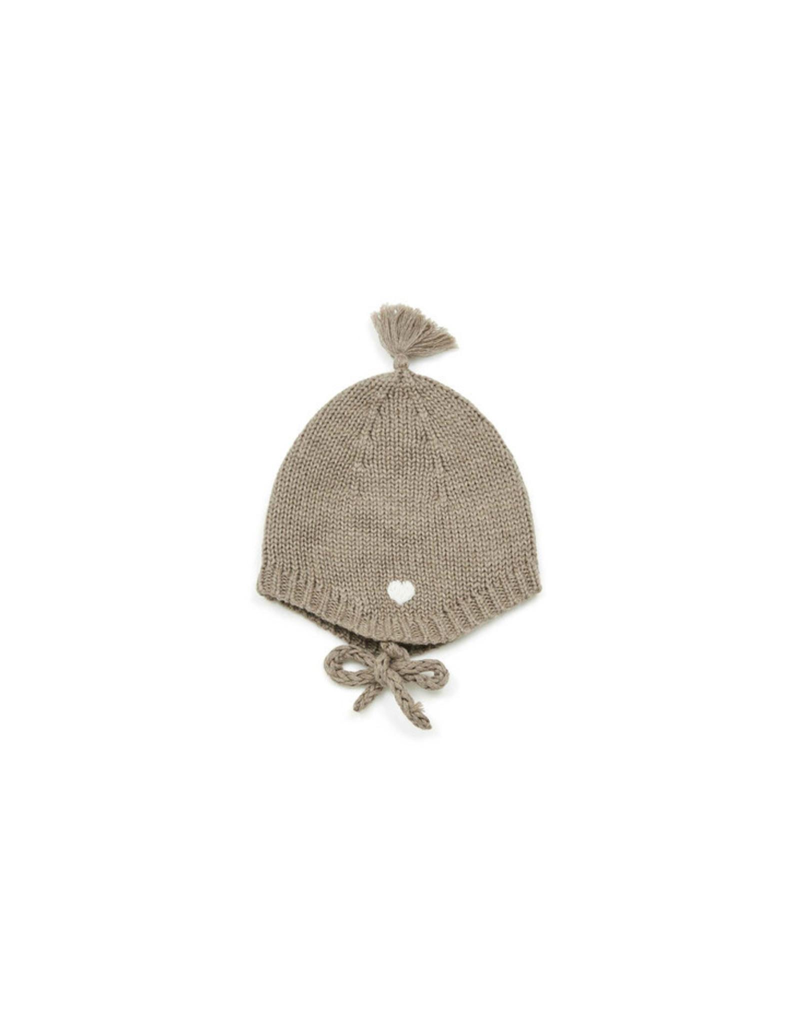 Bonton Cotton and cashmere new-born hat