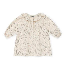 Bonton Heart print organic cotton gauze baby dress