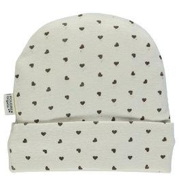 Poudre Organic Carafe Hearts Newborn Bonnet