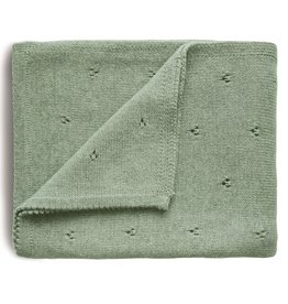 Mushie Knitted Pointelle Baby Blanket