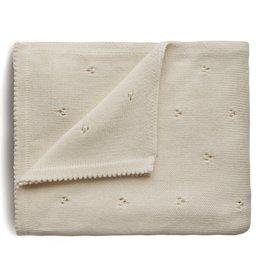 Mushie Couverture Pointelle en tricot