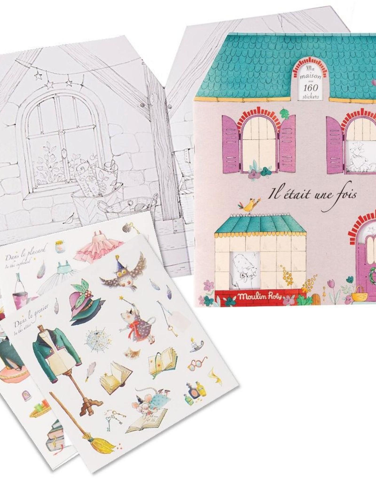 Moulin Roty Il Etait Une Fois Coloring Sticker Book