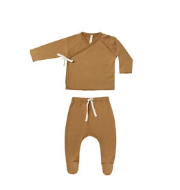 Quincy Mae Wrap top and pant set