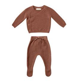 Quincy Mae Knit Wrap Top + Pant Set