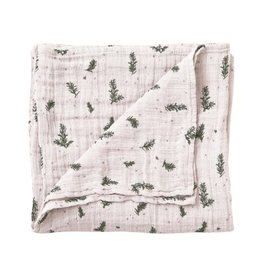 Garbo and friends Muslin Swaddle Rosemary Blanket