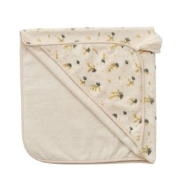 Garbo and friends Baby Hooded Mimosa Towel