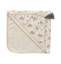 Garbo and friends Baby Hooded Bluebell Towel
