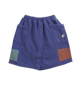 Bobo Choses Geometric fleece buttoned skirt