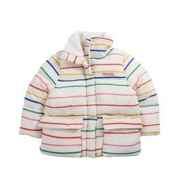 Bobo Choses Multicolor Stripes hooded padded jacket