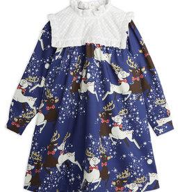 Mini Rodini Reindeer Woven Long Sleeve Dress