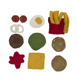 Papoose Felt Burger and Fries Set