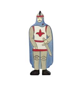 Holztiger Chevalier avec cape bleue