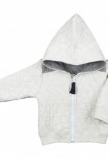 veste sweartshirt grise à capuche lebeau