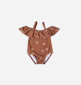 Swimsuit, sand dollart print