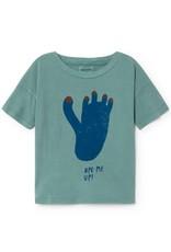 T-shirt à manches courtes, imprimé empreinte de pied