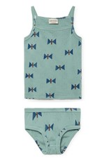 Camisole et culotte, imprimé papillons