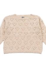 Bonton Pointelle knit sweater