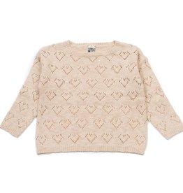 Pointelle knit sweater