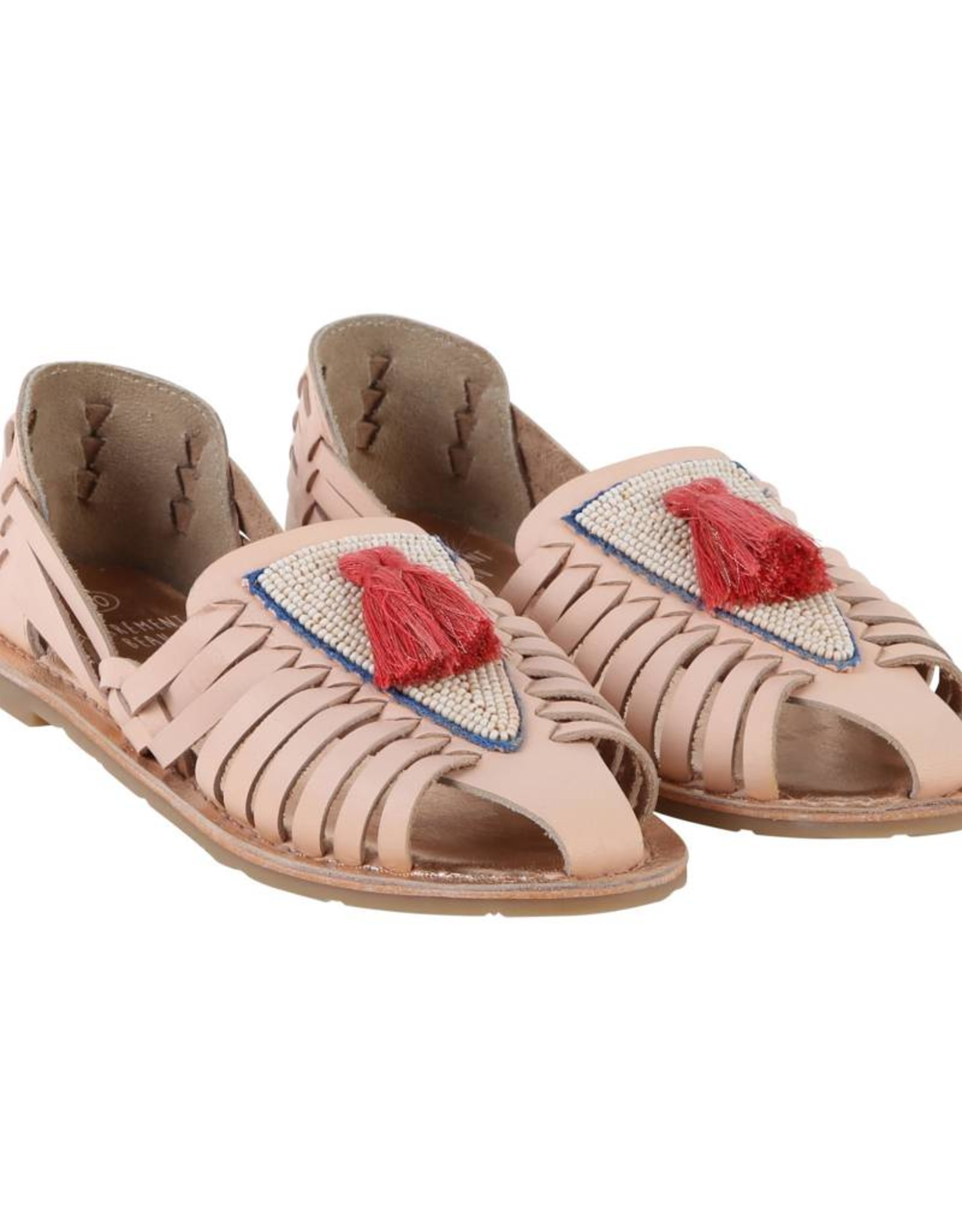Carrément Beau Tassel Leather sandals
