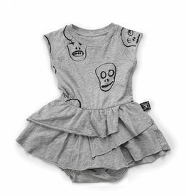 Skull mask onesie skirt