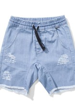 Ripped up denim short