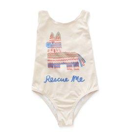 Oeuf Tank bathing suit, Pinata print