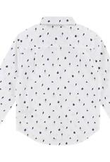 Chemise à noeud papillon, imprimé pieuvres
