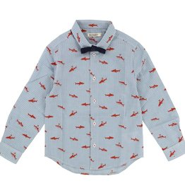Shirt and bow tie, sharks print