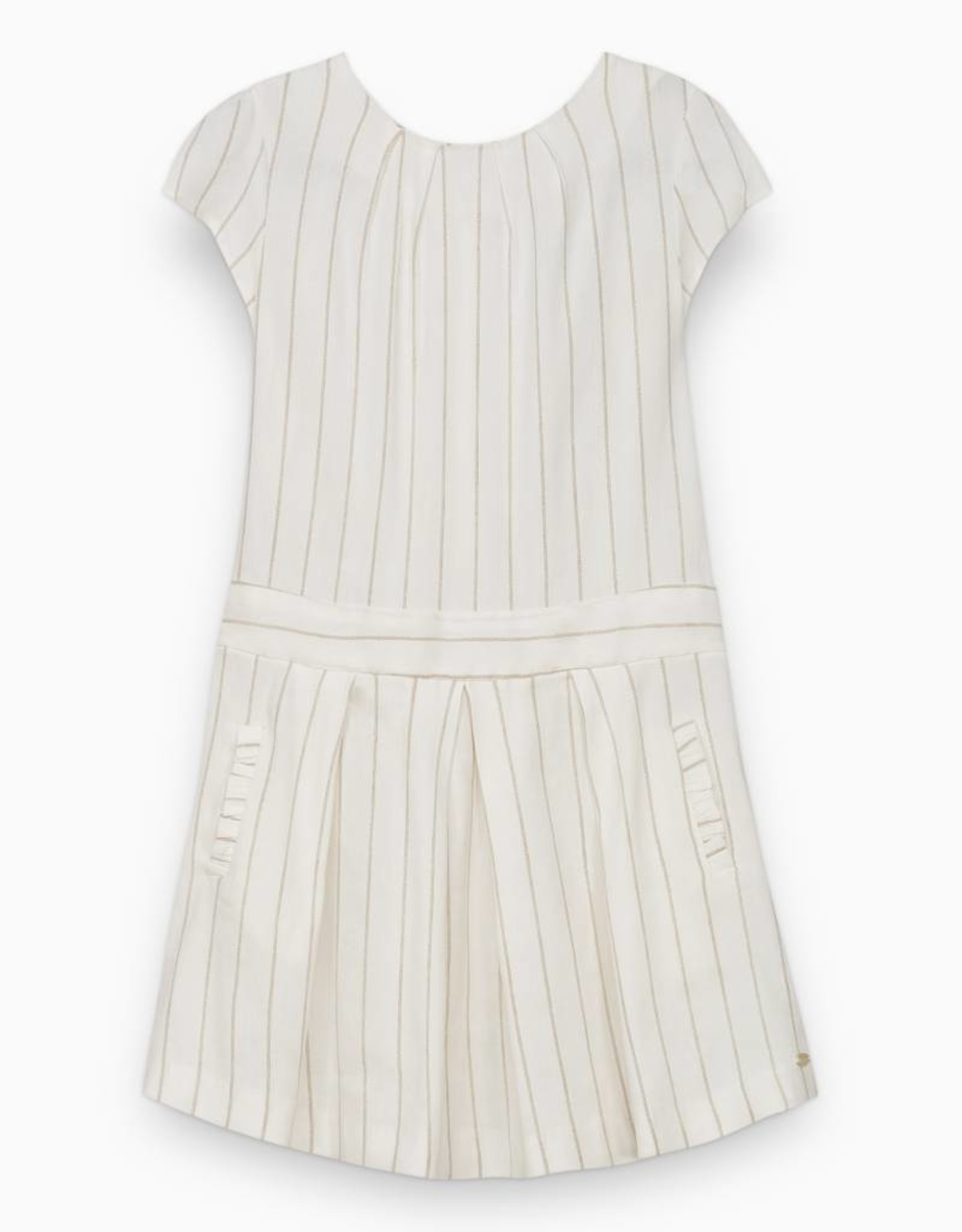 Dress, with golden stripes