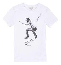 T-shirt singe en skateboard