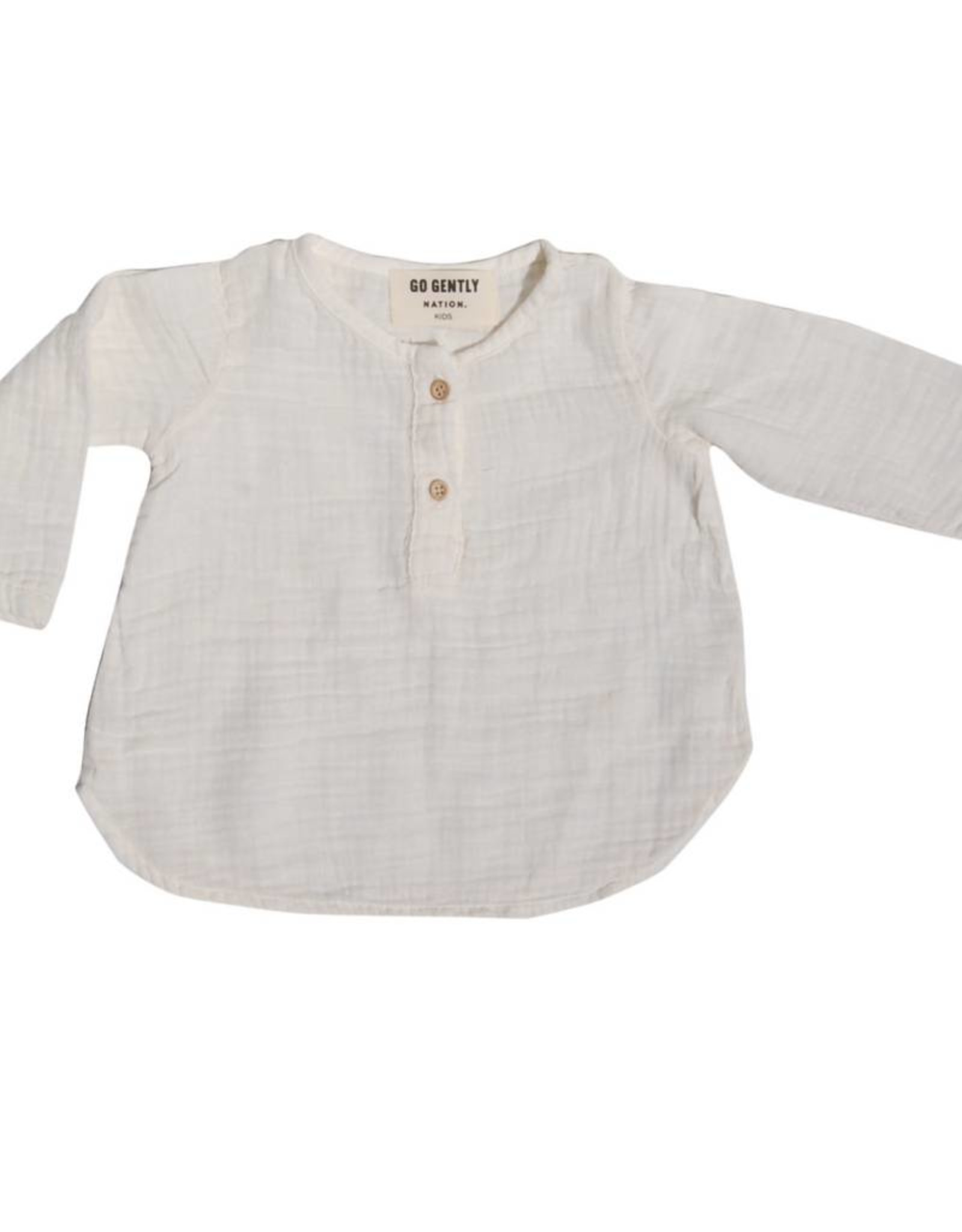 Go Gently Nation Placket Gauze Top