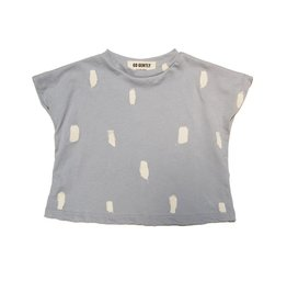 Boxy Tee, Silver paint brushes