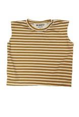 T-Shirt Muscles, à rayures dorés