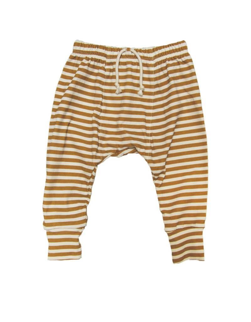 Pantalon Harem, rayures dorés