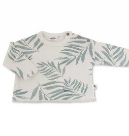Sweat sweater, palm leaves print
