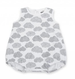 Baba wide bodysuit, clouds print