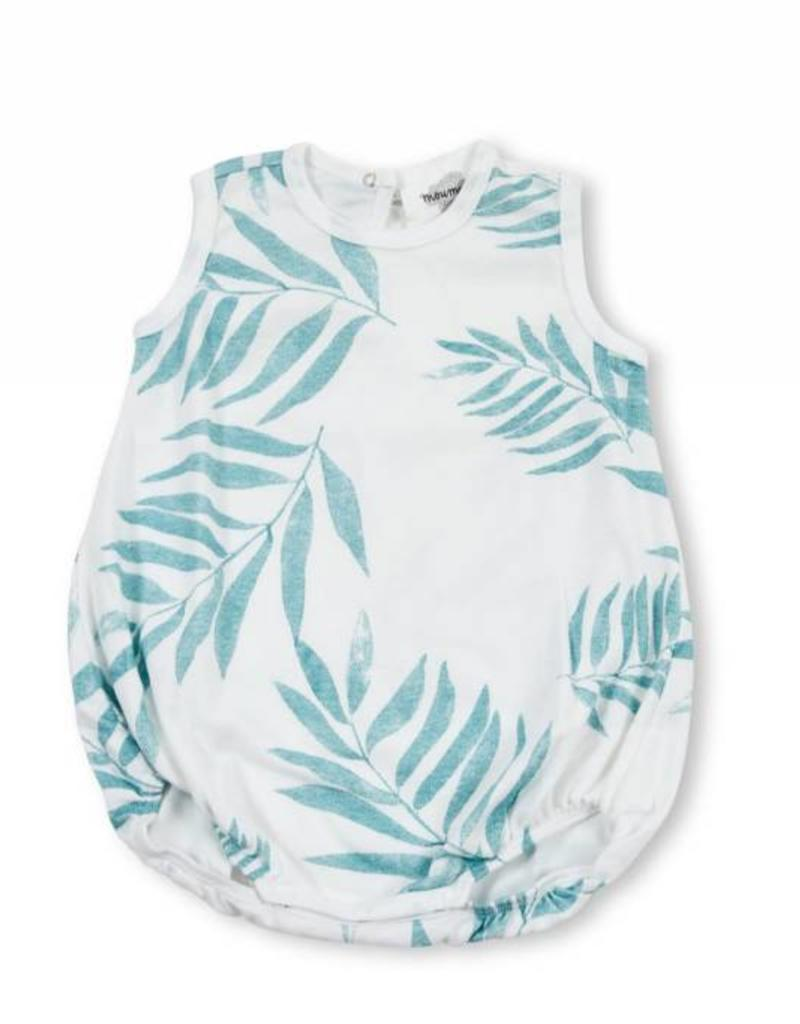 Baba wide bodysuit, palm leaves print