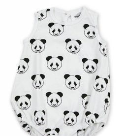 Baba wide bodysuit, pandas print