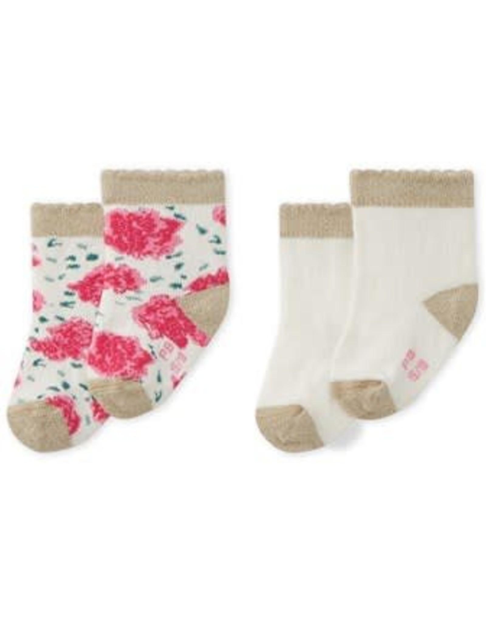 Set of 2 pairs of Mallais baby socks