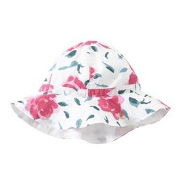 Chapeau soleil imprimé fleurs