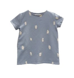 French Terry Frock T-shirt, , Silver paint brushes
