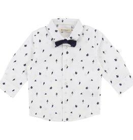 Chemise pour bébés à noeud papillon, imprimé pieuvres